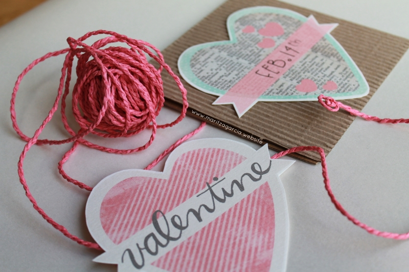 Sweet and Simple Valentine's Day Cards via Maritza Garcia.