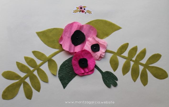 Cute Flower Badge Inspired Floral Display