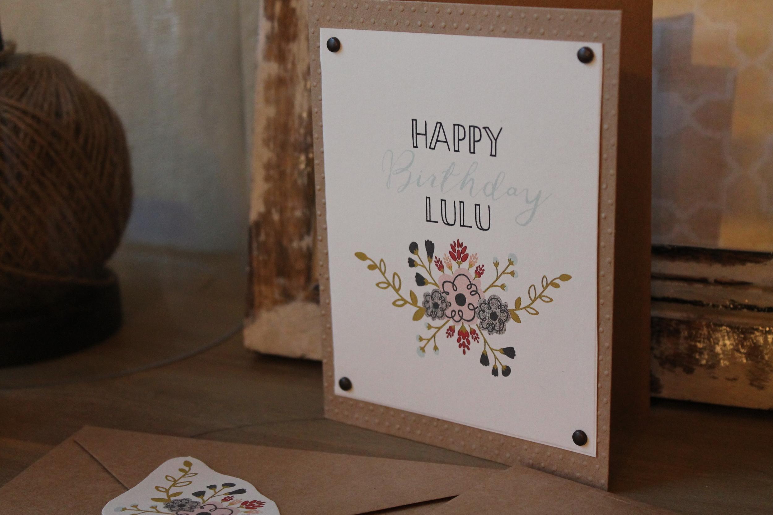 Personalized Birthday Card by Maritza Garcia.