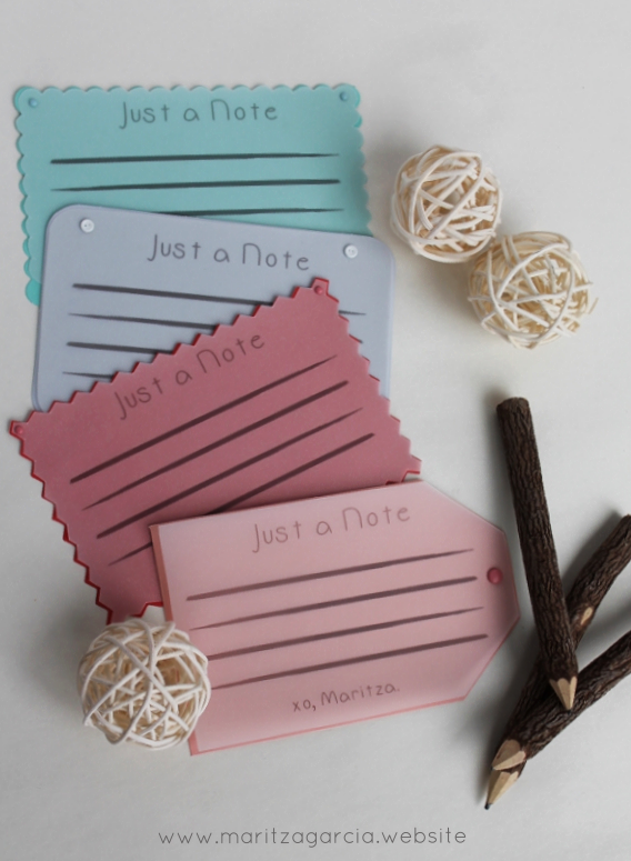 Personalized Note Cards by Maritza Garcia.