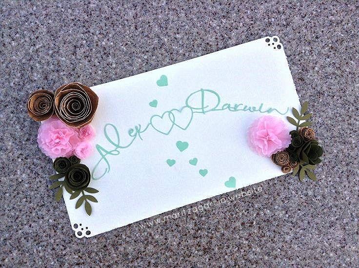 3D wedding color palette in emerald green, rose pink, gold and ivory | maritza garcia