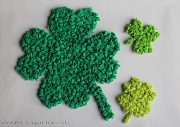 Lucky Shamrocks by Maritza Garcia.