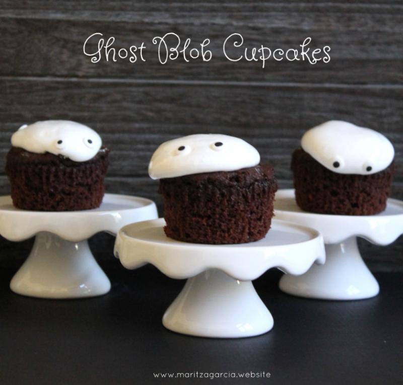 Ghost Blob Cupcakes by Maritza Garcia.