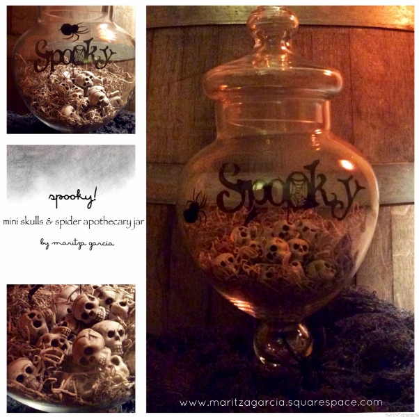 Spooky Mini Skulls and Spider Apothecary Jar | maritza garcia