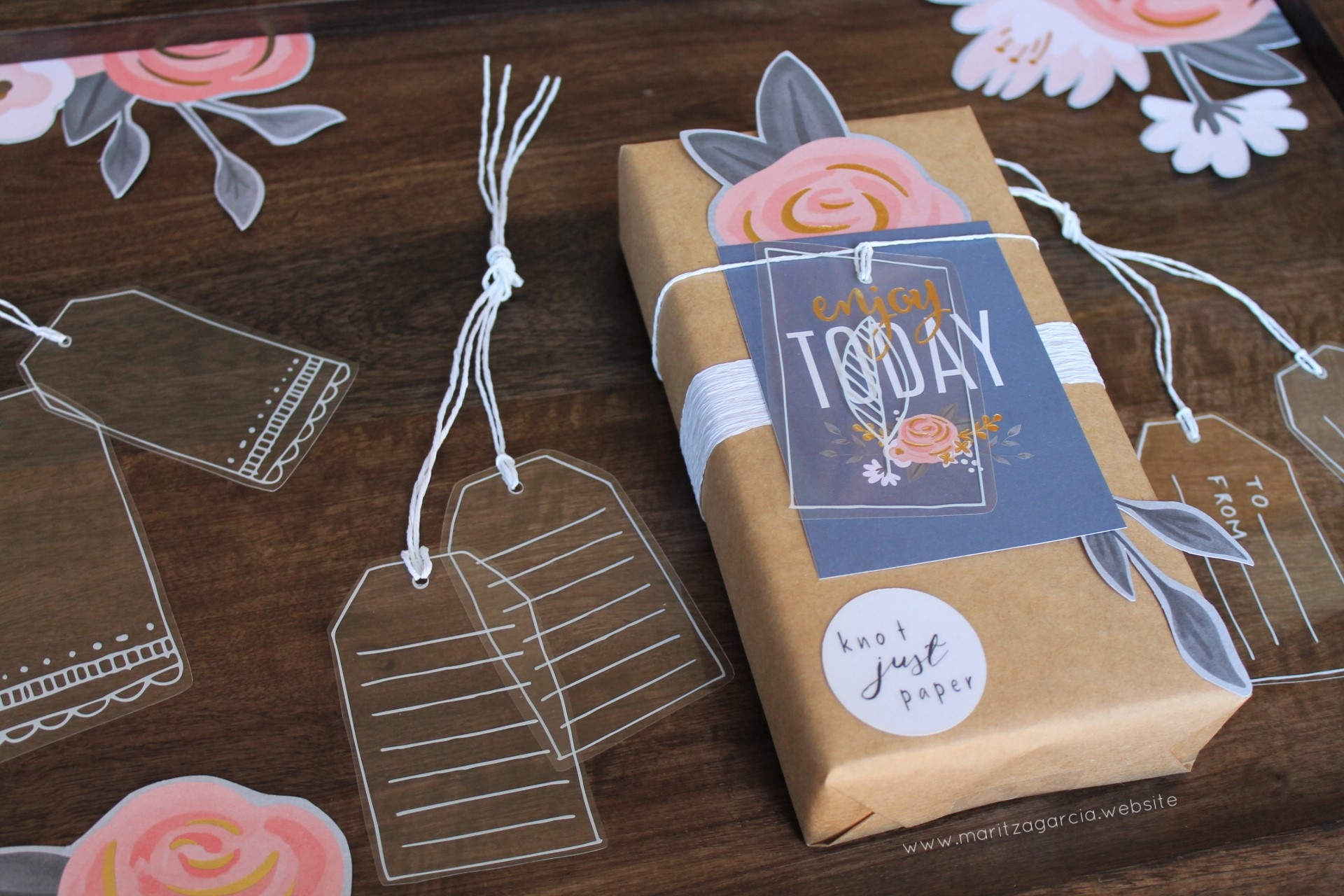 Gift Wrapping with Recollections by Maritza Garcia.