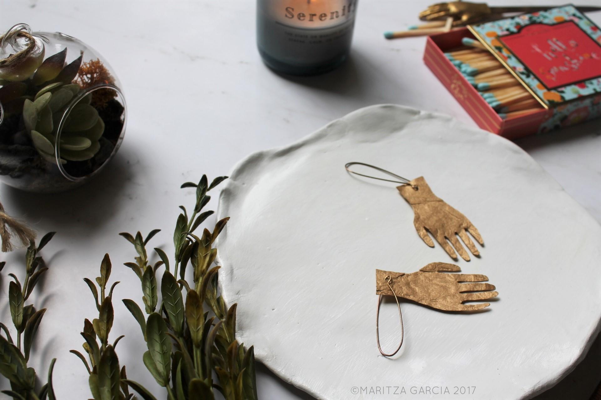 Silhouette Paper Earrings DIY | maritzagarcia.websit