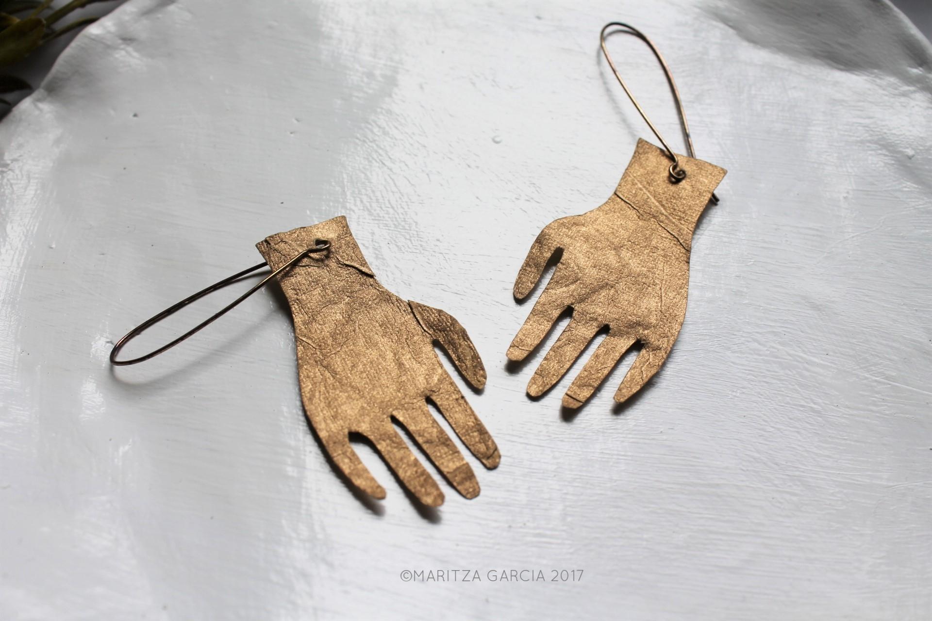 Silhouette Paper Earrings DIY | maritzagarcia.website