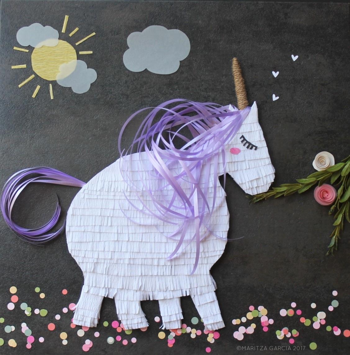 Flat Unicorn Pinata | www.maritzagarcia.website