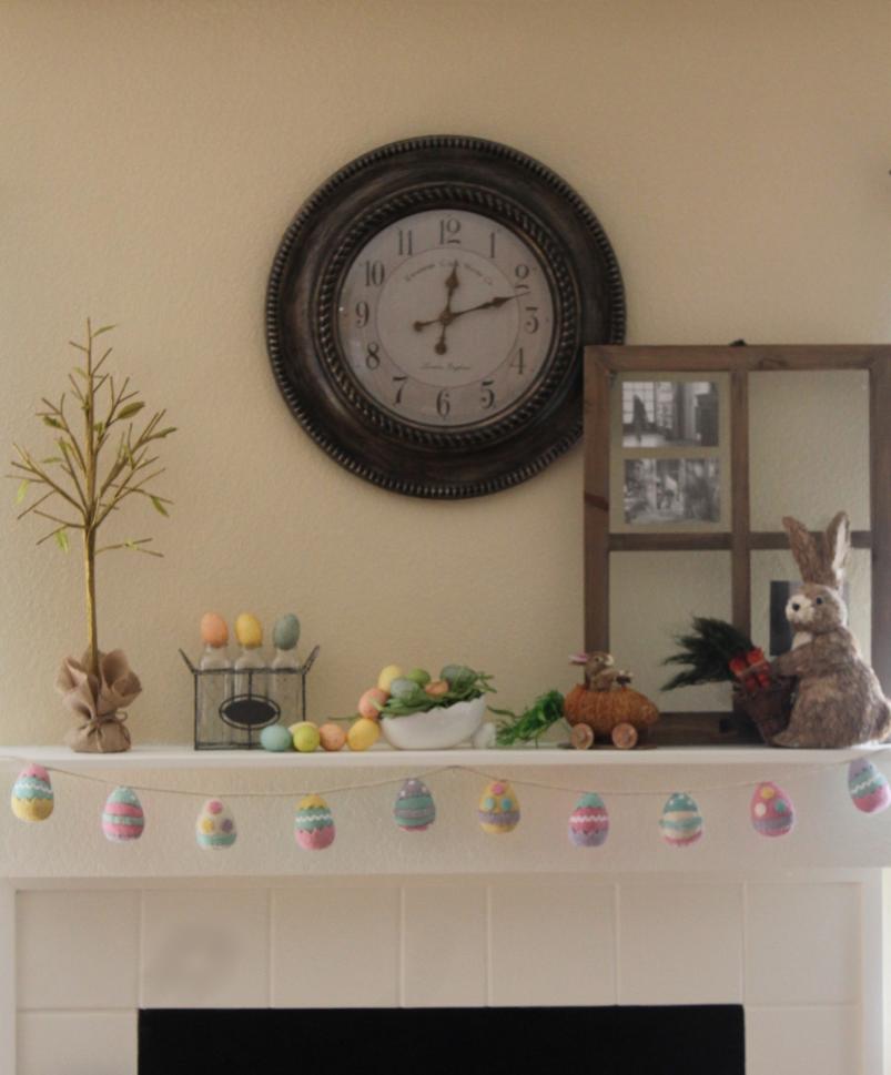 Last Minute Easter Mantel