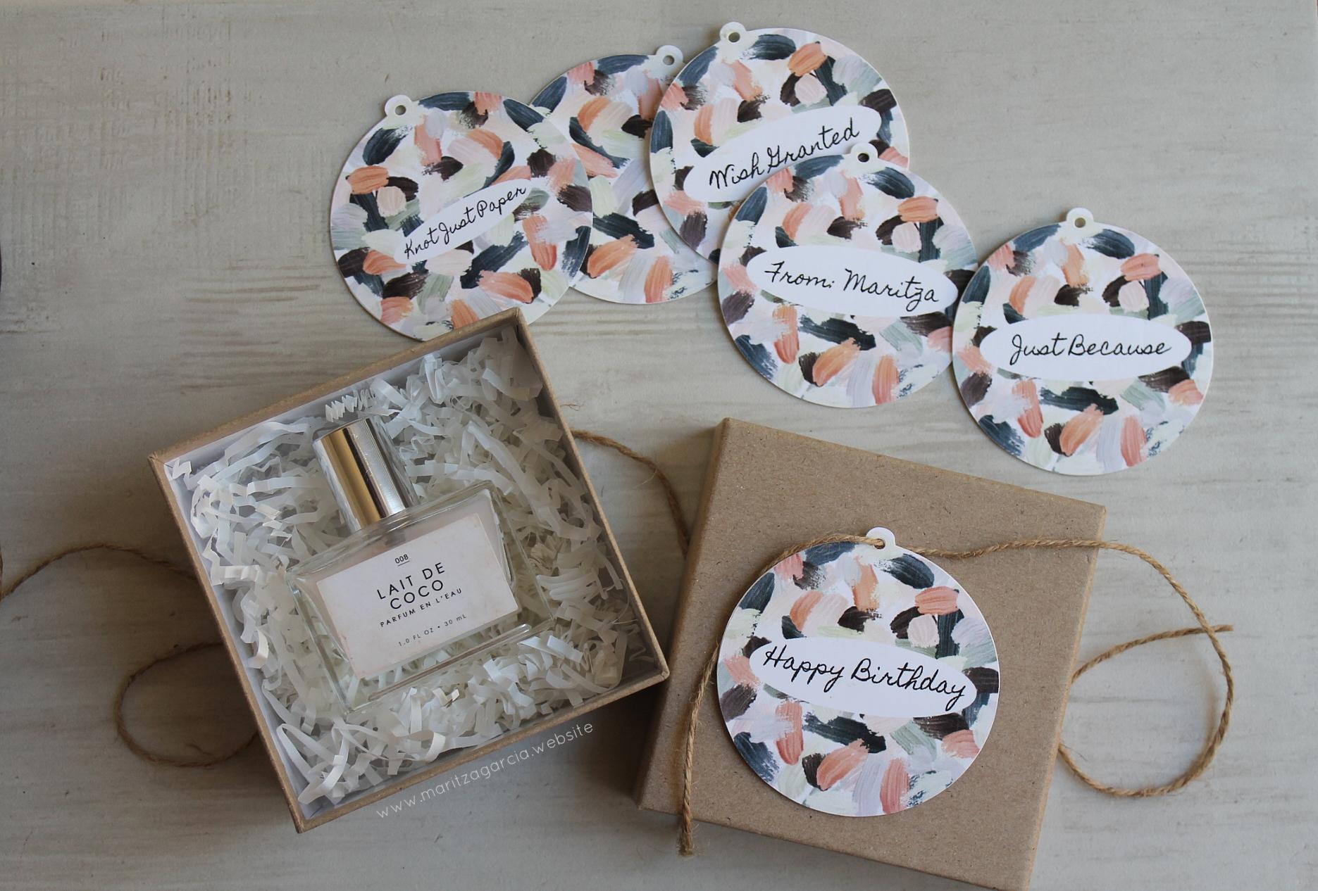 Brush Stroke Gift Toppers by Maritza Garcia | www.maritzagarcia.website