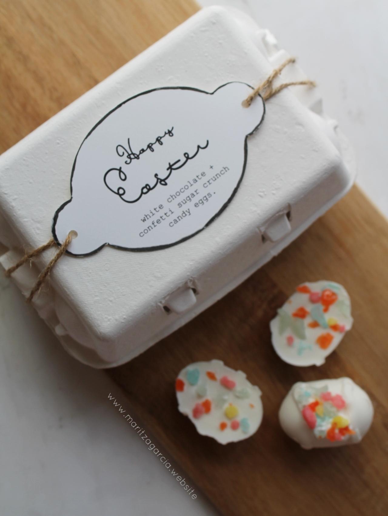 White Chocolate Confetti Sugar Crunch Eggs | www.maritzagarcia.website