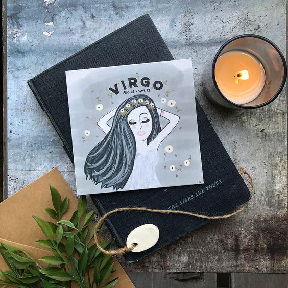 Virgo Greeting Card by Maritza Garcia | www.maritzagarcia.website