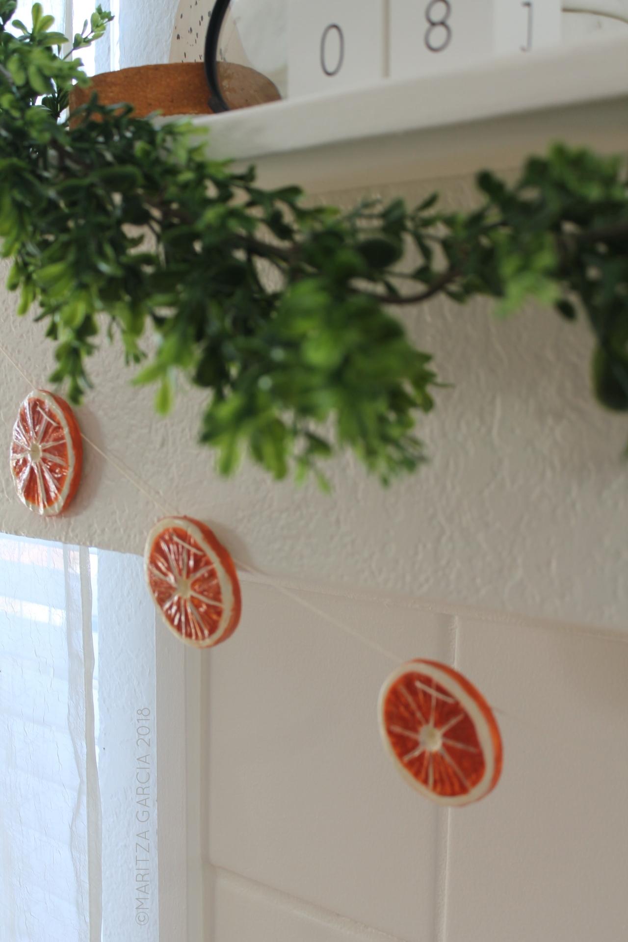 Air-Dry Clay Citrus Garland + Gift Tags DIY