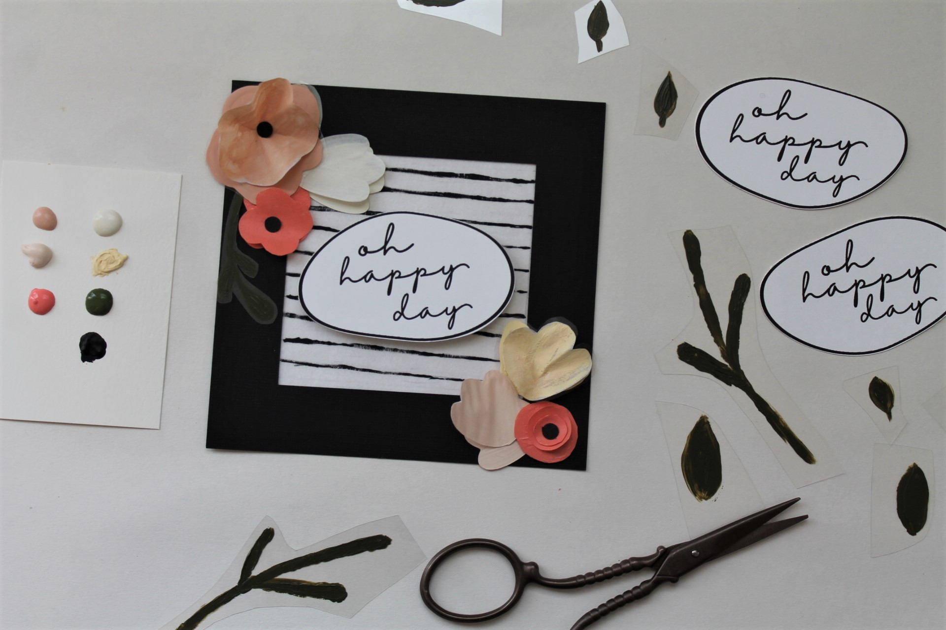 DIY Craft Plastic + Vellum Paper Greeting Cards | www.maritzagarcia.website