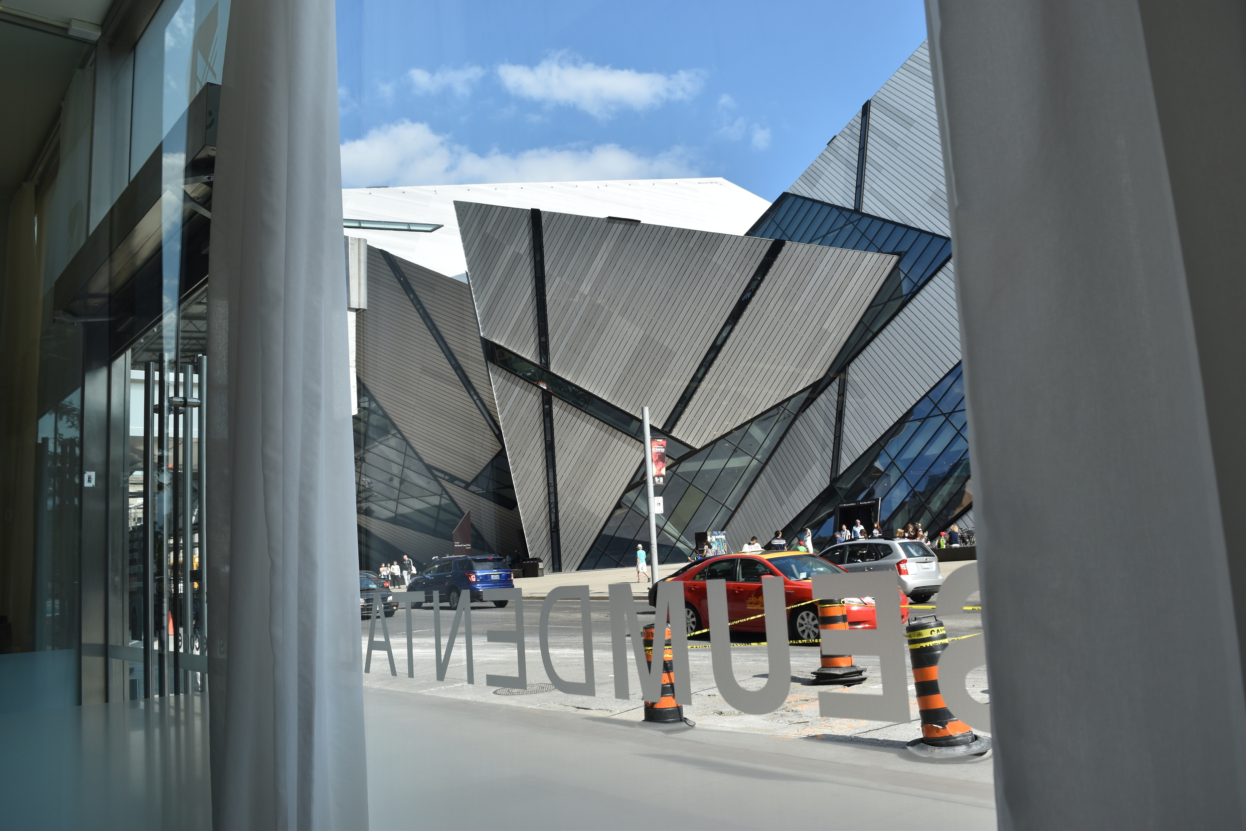 Beautiful views of the Royal Ontario Museum from our office