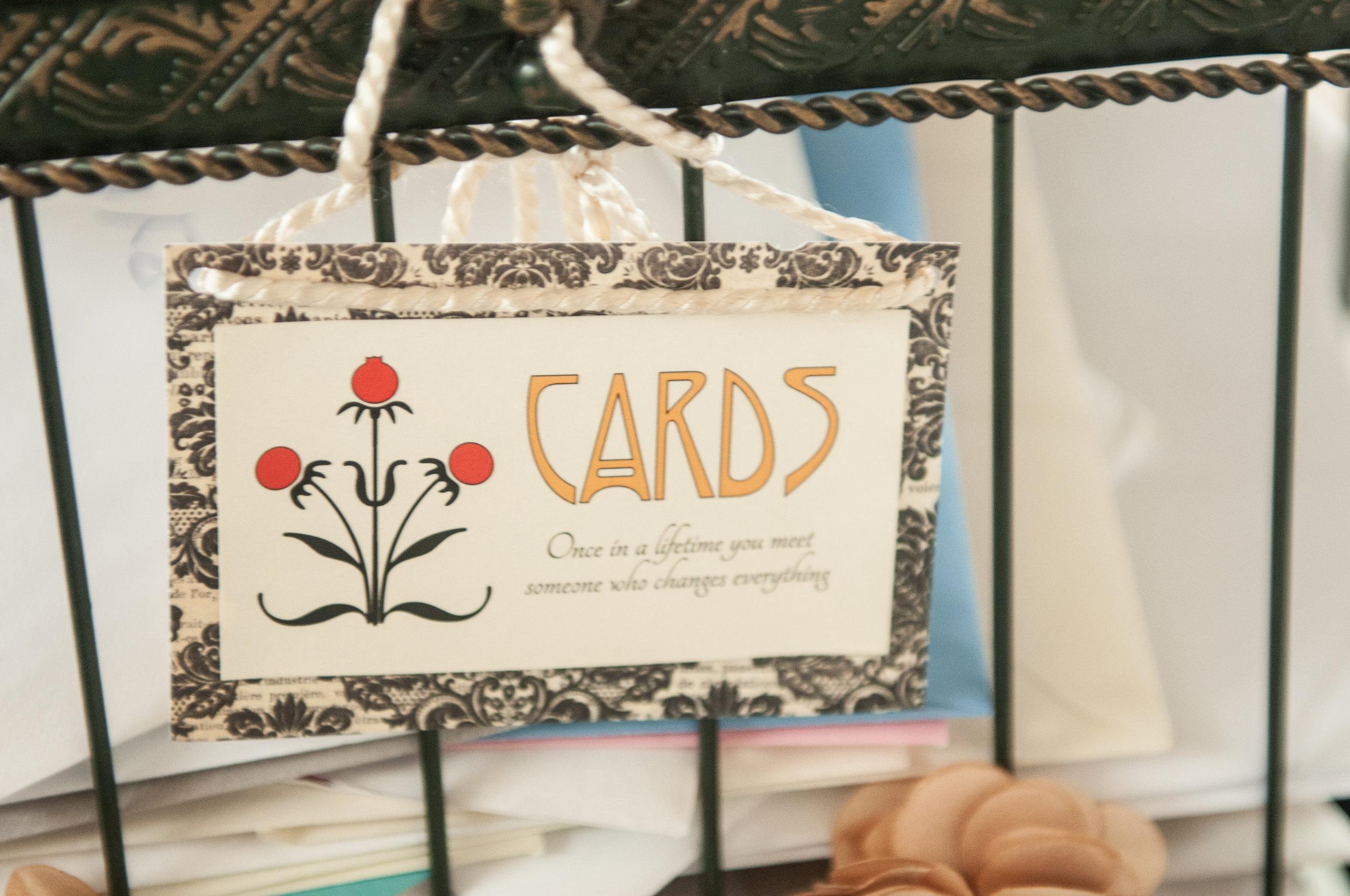 Card Box Sign
