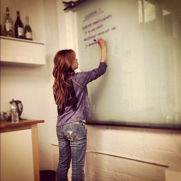 Founder Ti hard at work at Crave headquarters...help surround her with inspiration!