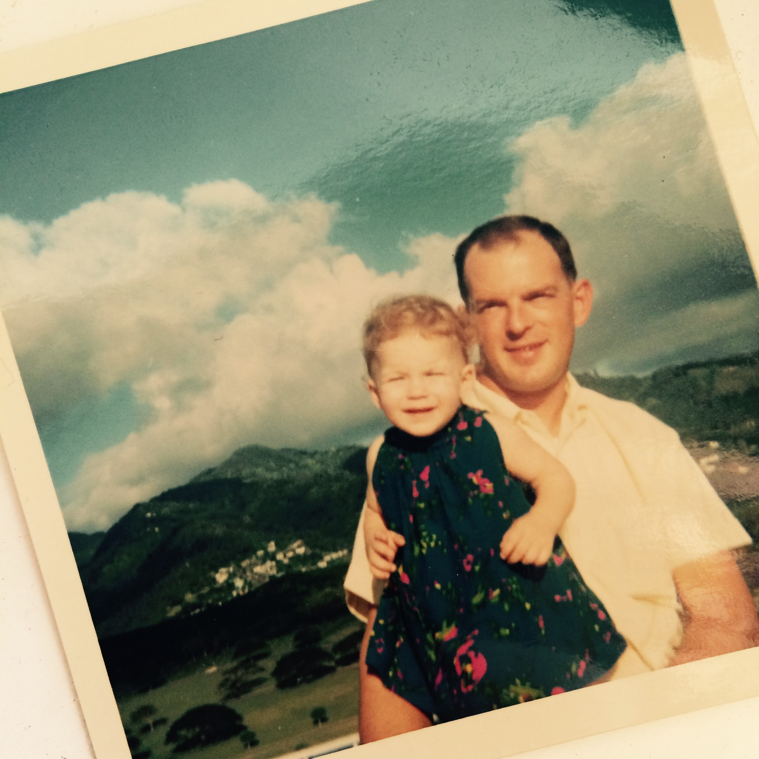 me and dad when we lived in Hawaii