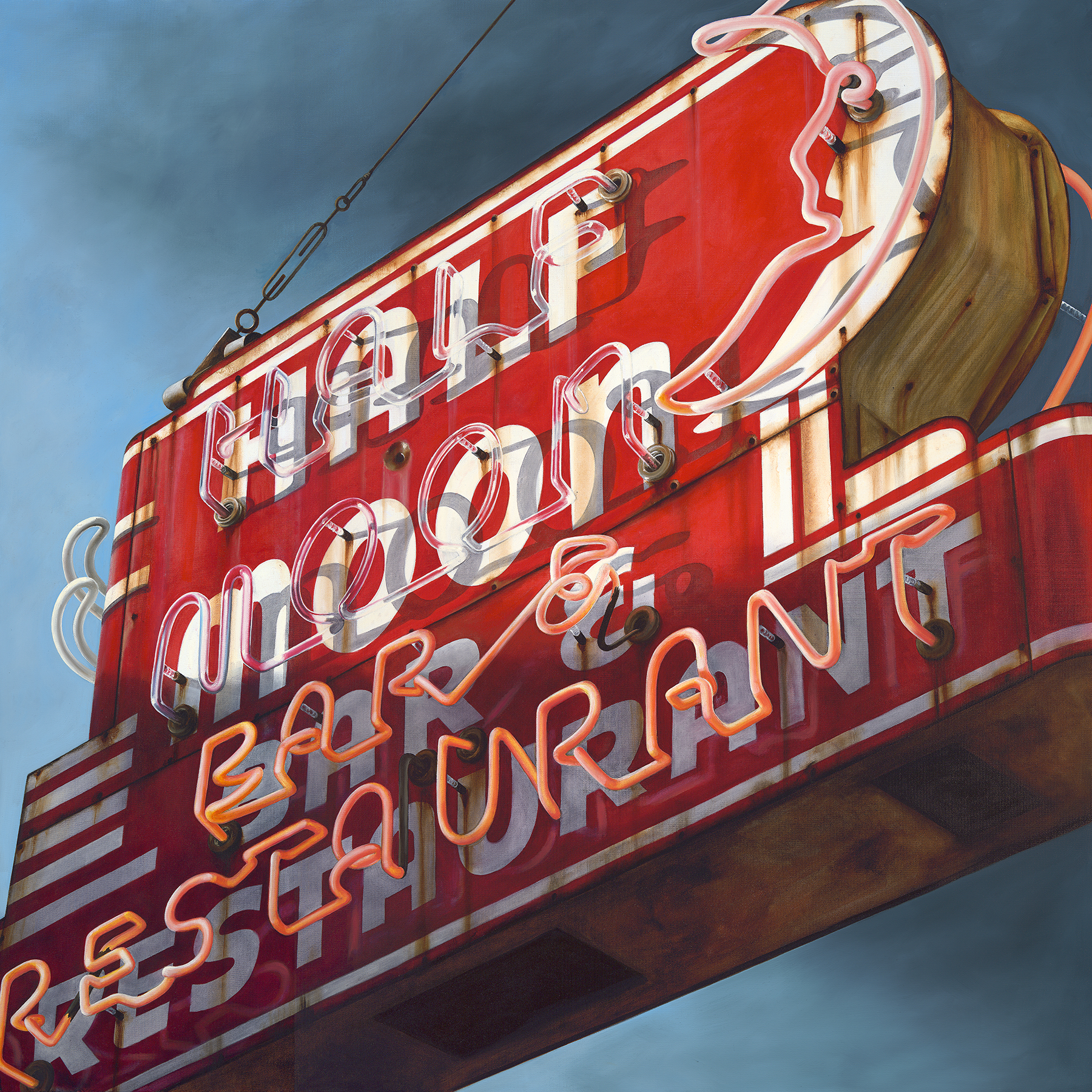 Half Moon Bar , 48x48in, Oil on Canvas, 2015