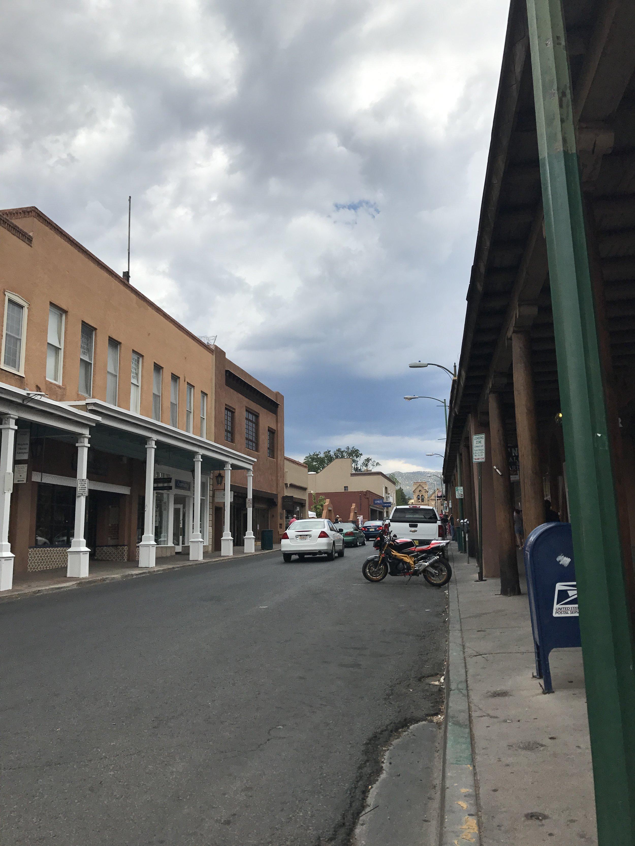 A peak at a street view in Santa Fe