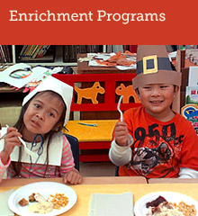 Garfield partners with community-based organizations to provide enrichmentment opportunities for its students and their families.
