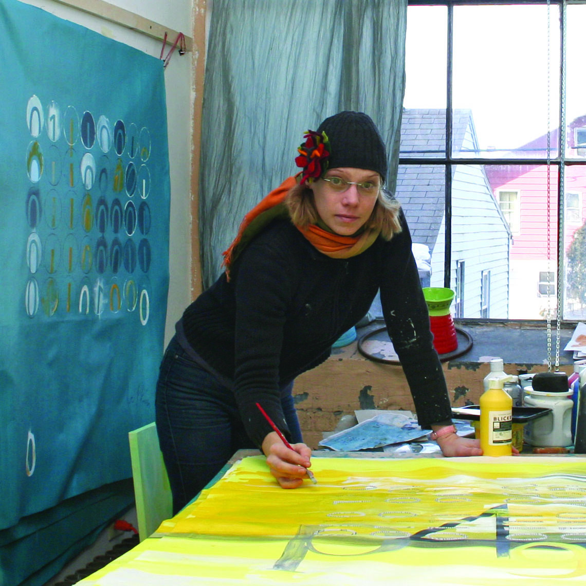 At my studio during winter 2011