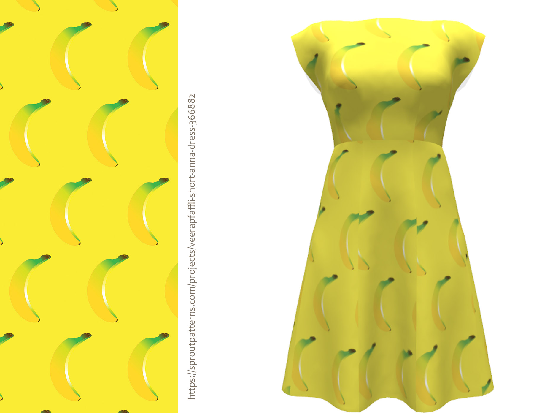 Anna dress on Sprout patterns goes bananas