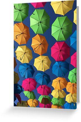 Florida umbrellas cards