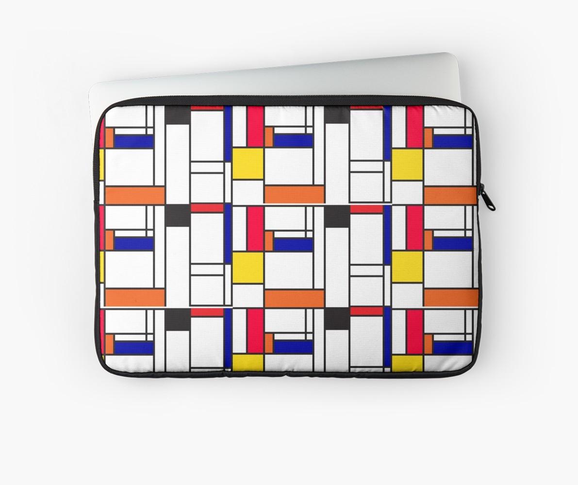 Mondrian inspired maze laptop sleeves