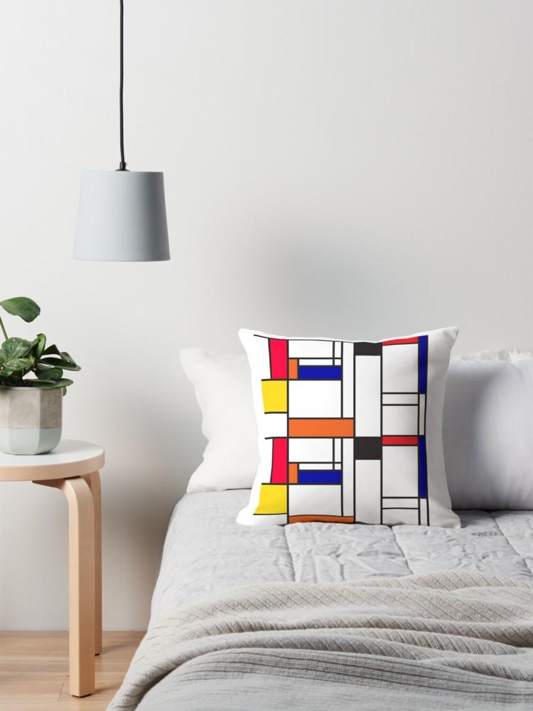 Mondrian inspired maze pillows