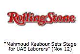 """Mahmoud Kaabour Sets Stage for UAE Laborers"" (Nov 12)"