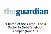 """Champ of the Camp: The X Factor in Dubai's labour camps (Nov 13)"