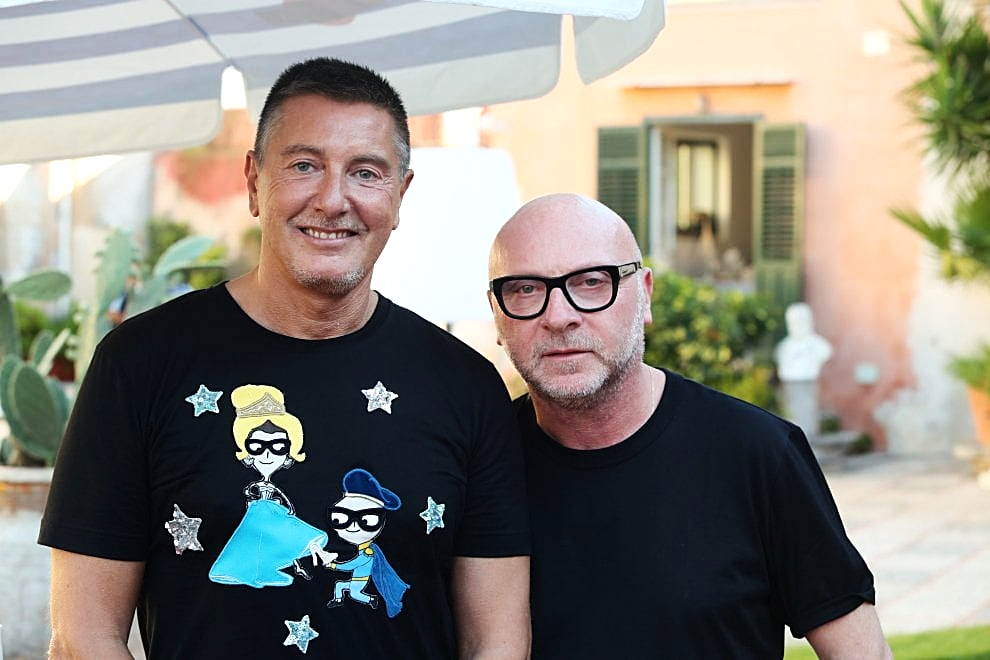 Stefano Gabbana on the left and Domenico Dolce on the right