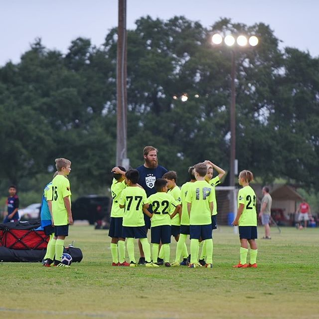 7:15 pregame huddle. @ctxflash 08 boys #ducttape #youthsoccer #dedication