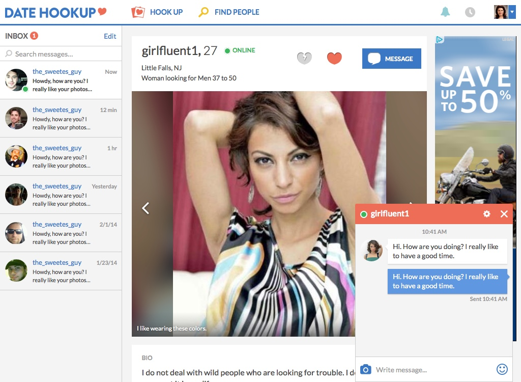 Above is a sample of what a user's profile and chat window look like. The profile focused on the user's photos instead of stats, and we began allowing users to share more than just standard profile photos of themselves and start including pictures of things they love.Multiple chat windows allowed users to talk to more than one person at a time.
