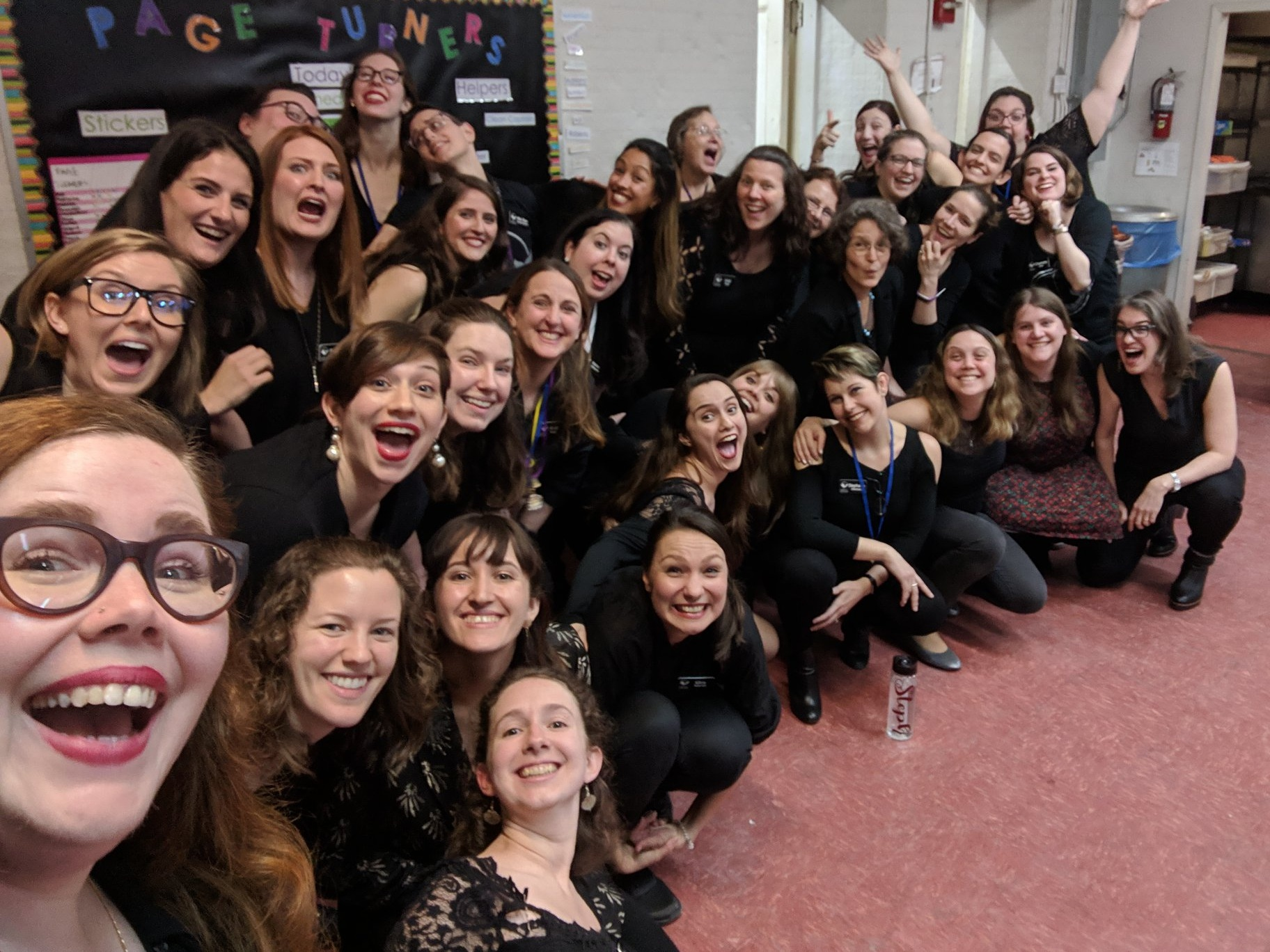 A joyous chorus selfie after welcoming our January 2019 class! We are so happy to be growing!