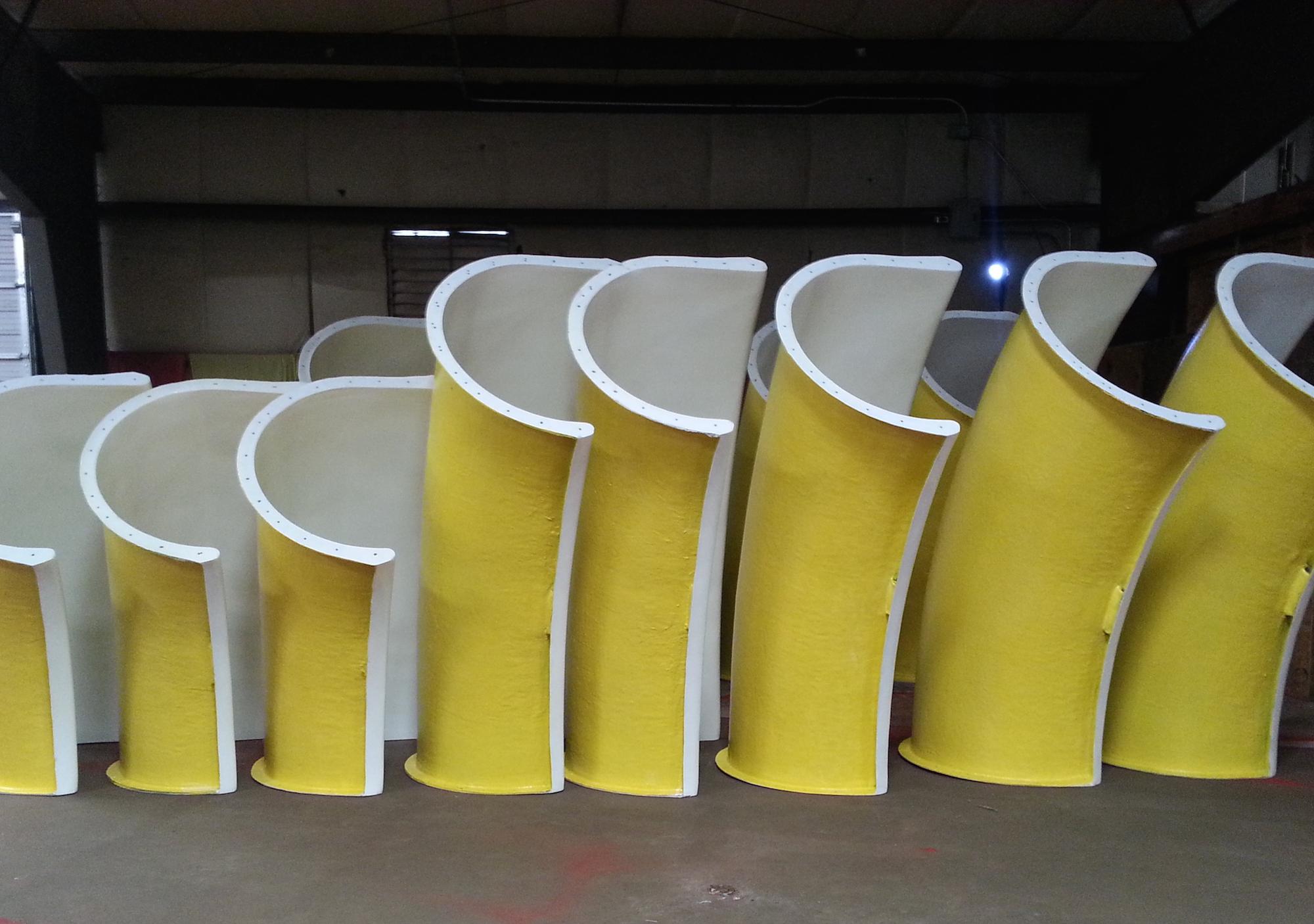 "Yellow 42"" Open Body Water Slide"