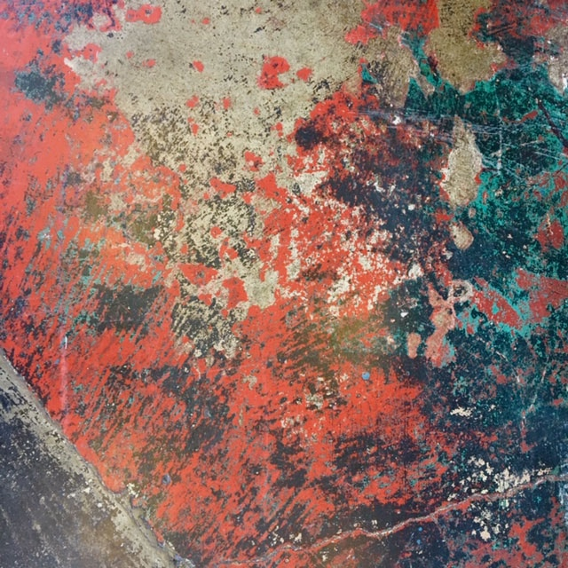 Old paint on a coffee shop floor in Sausalito….fall 2018
