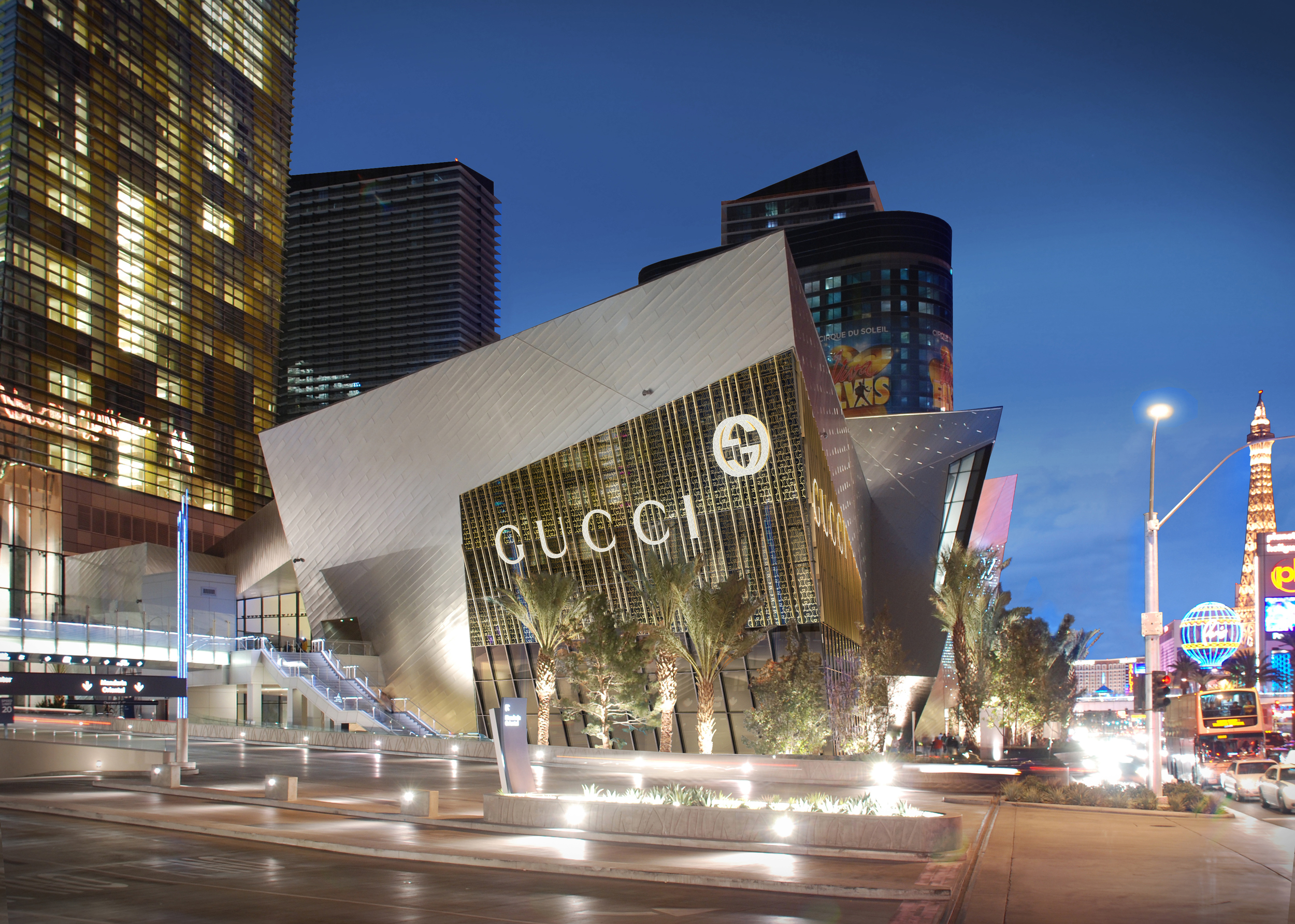 Gucci City Center Las Vegas Exterior Photo-Composite Rendering