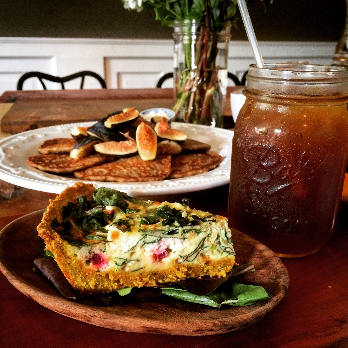 Barlume Apothecary gluten free pancakes and quiche