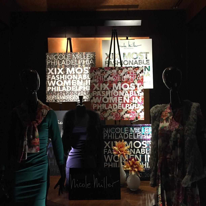 XIX Most Fashionable Women in Philadelphia Nicole Miller display