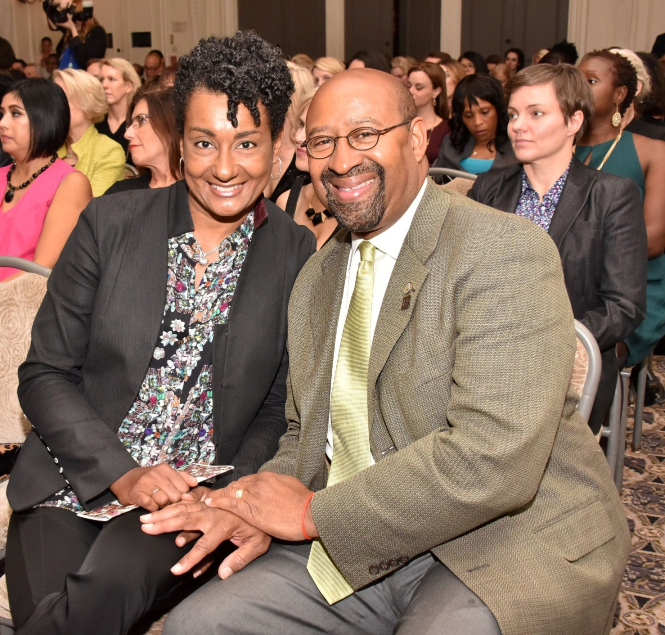 First Lady (and 2011 honoree) Lisa Nutter and her husband Mayor Michael Nutter. (PHOTO: Hugh E. Dillon)
