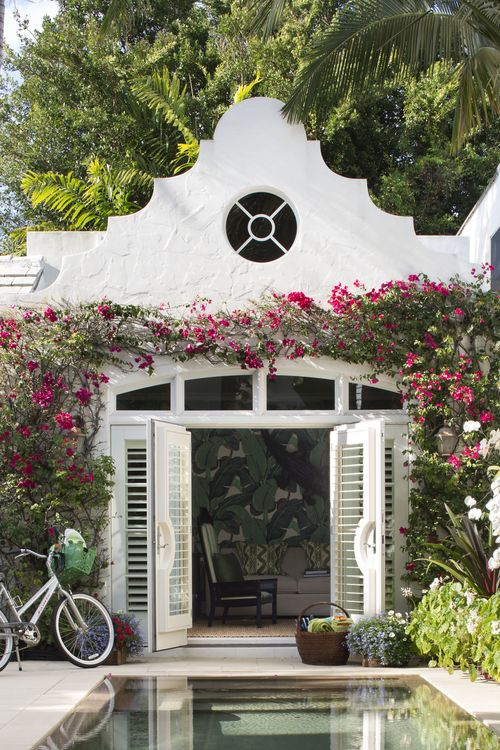 Perfect Little Paradise:  A Major Alley cottage turned office.  Please move me here right now.