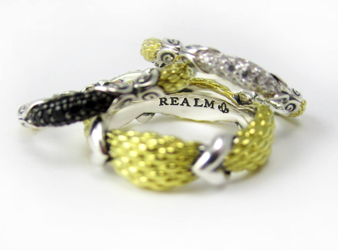 REALM  Empire Stack rings . Can't choose one?  Get'em all! (Starting at $150, in precious metals, these are a steal!)