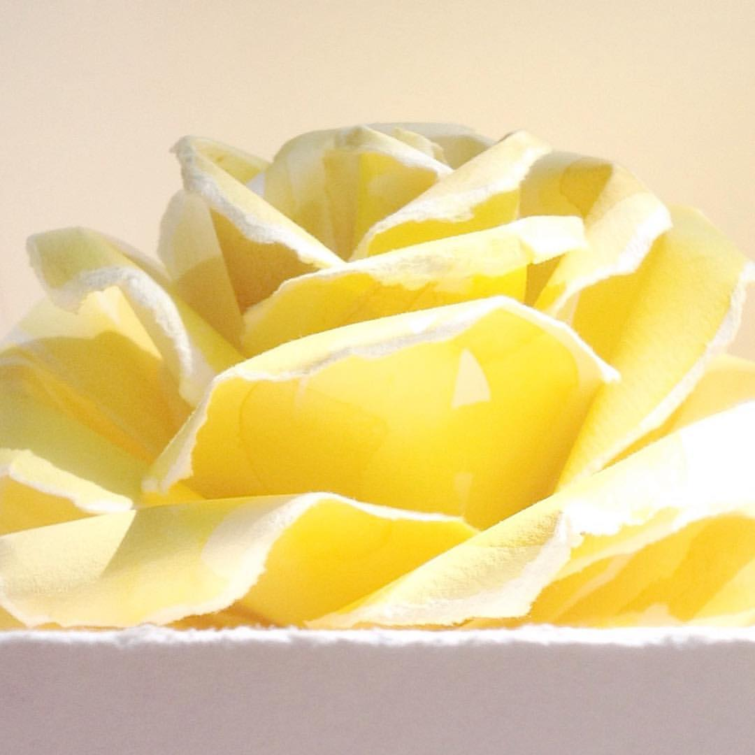 This flower has a very special meaning.  It was made by Michele in honor of her mother, who loved yellow roses.