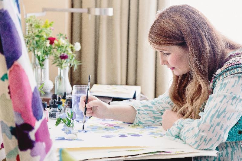 fiona douglas painting in studio