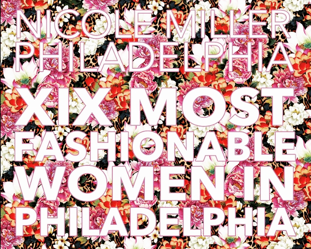 XIX Most Fashionable Women In Philadelphia award invite