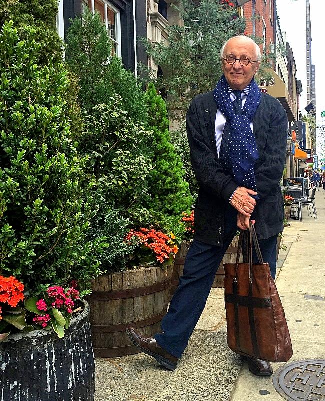 Fashion legend Emil DeJohn, captured in his hometown of Philadelphia by Doreen Creede