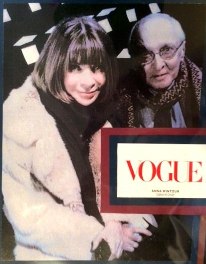 Vogue's Anna Wintour with Emil DeJohn