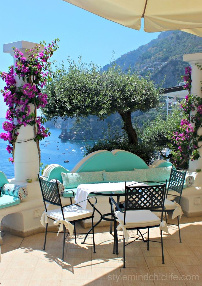 Balcony in Positano by Heather Lindstrom